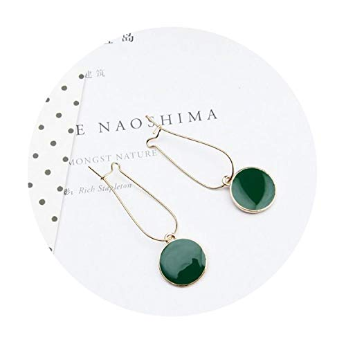 Selling Simple Green Circle Small Fresh Girl Earrings Female Personality Wild Short Earrings Vintage Earr for $<!--$15.88-->