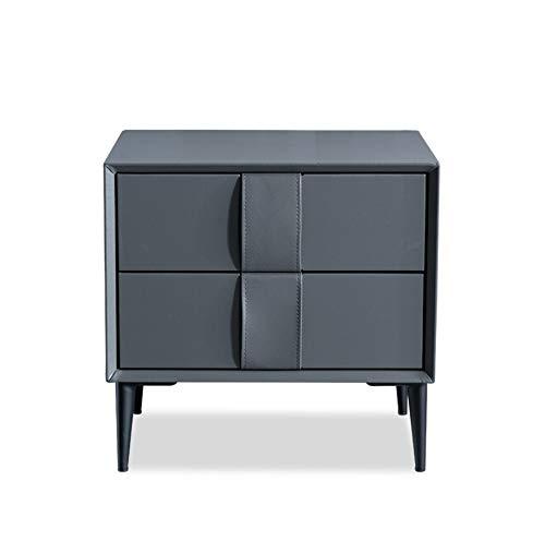 ベッドルームベッドサイドテーブル北欧シンプルなベッドサイドテーブルダークグレーチェストベッドサイドキャビネットベッドルームモダンロッカー B07QKMD58H