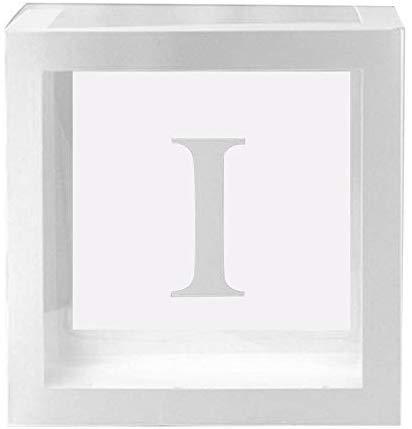 Zeaih 1Pc Transparente Cuadrado Caja de Cartón, Baby Shower ...