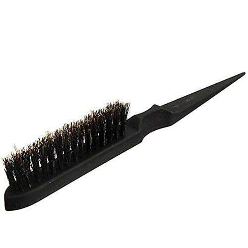 Mia Rose Therapy - Handle Natural Boar Bristle Hair Brush Fluffy Comb Hairdressing Barber Hot (Color - Black)