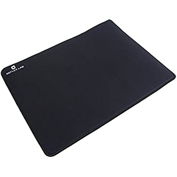 """Reflex Lab Large Gaming Mouse Pad Mat, Stitched Edges, Waterproof, Ultra Thick 5mm, Silky Smooth- XL Mousepad 15""""x11"""" Black"""