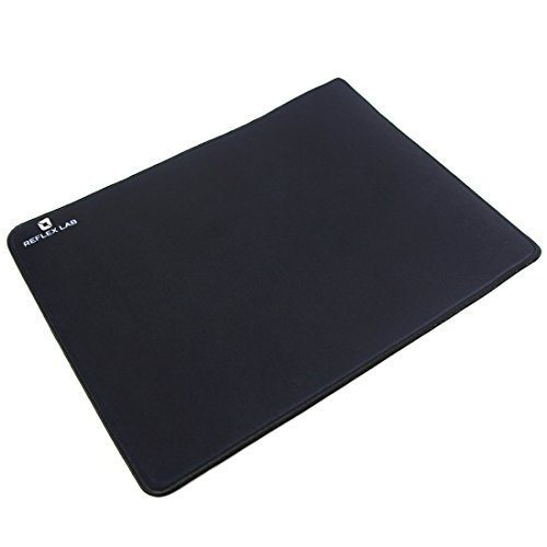 "Reflex Lab Large Gaming Mouse Pad Mat, Stitched Edges, Waterproof, Ultra Thick 5mm, Silky Smooth- XL Mousepad 15""x11"" Black"