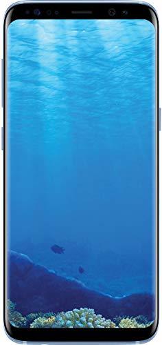 Samsung Galaxy S8, 64GB, Coral Blue – Fully Unlocked (Renewed)