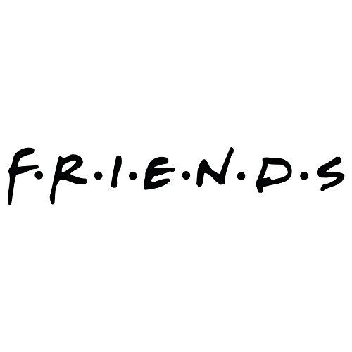 Friends Logo Vinyl Decal Sticker 8x1.5 inch (Gloss Black)