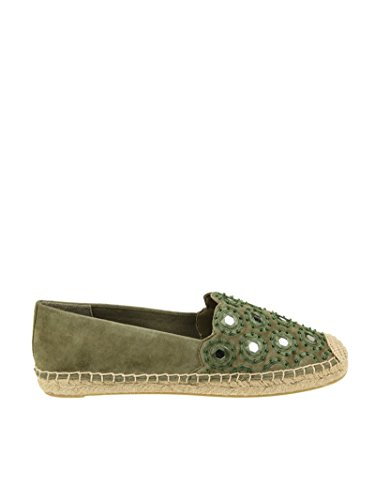 Verde Espadrilles Donna Burch 43018305 Camoscio Tory nqUY0Bwx
