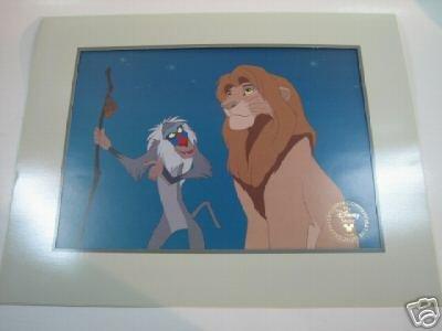 (Disney Lion King 1995 Commemorative Lithograph Mint)