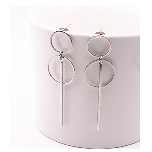 Fashion Punk Simple Long Section Tassel Pendant Size Circle Earrings For Ladies Gifts Wholesale,e0204yinse