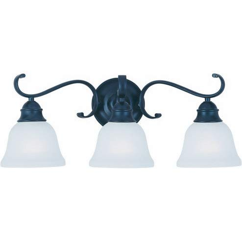 Linda 3 Light Pendant - Maxim 11810ICBK Linda 3-Light Bath Vanity, Black Finish, Ice Glass, MB Incandescent Incandescent Bulb , 60W Max., Dry Safety Rating, 2700K Color Temp, Standard Dimmable, Metal Shade Material, 4032 Rated Lumens