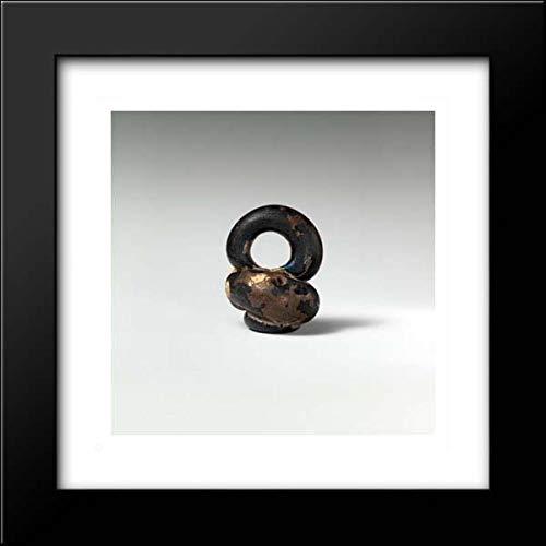Roman Culture - 15x15 Framed Museum Art Print- Glass Pendant in The Form of a Miniature jar ()