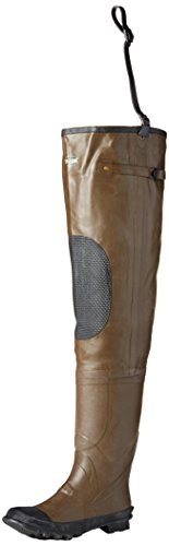 Pro Line Men's Rubber Hip Waders,Brown,8 M
