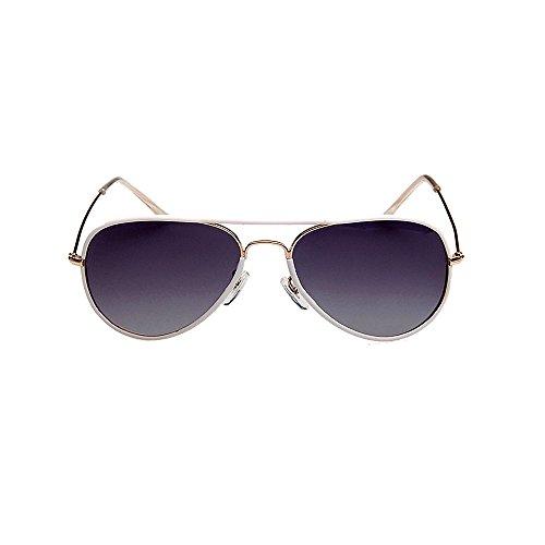Frame Soleil Lunettes 100 Polarisé UV400 Femme Homme VeBrellen Protection White de VS003 CqwP6I