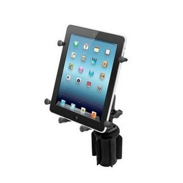 RAM Mounts (RAP-299-3-UN9U) Ram-A-Can Ii Universal Cup Holder Mount with Double Socket Arm and Universal X-Grip Iii Holder for Large Tablets