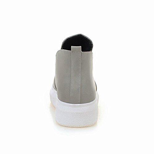 Draagcomfort Comfortplatform Pull-on Casual Sleehakschoenen Grijs