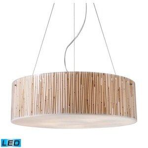 ELK 19063/5-LED, Modern Organics Large Drum Pendant, 5 Light LED, Polished Chrome