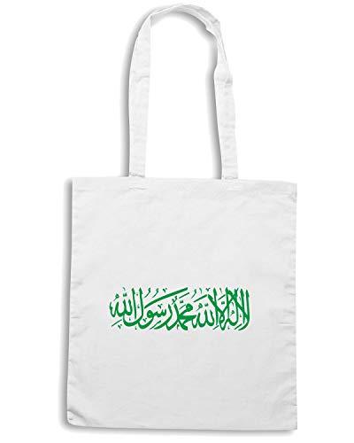 DRAPEAU FLAG TM0199 Shopper FLAG Shirt ISLAMIC Borsa Bianca KHILAFAH ISLAM Speed 0pOqga