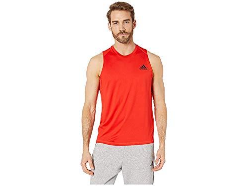 (adidas Men's Freelift Sleeveless T-Shirt Active Red Large )