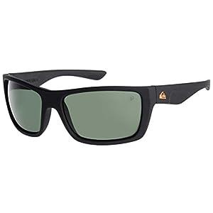 Quiksilver Hideout Floatable Sunglasses - Matte Black / Green Polarized