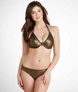 49c37b6b9a59 Freya Gold Rush 3043 Underwired Bandless Halterneck Bikini Top:  Amazon.co.uk: Clothing