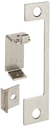 Locks Mortise Sargent (HES Stainless Steel HTD Faceplate for 1006 Series Electric Strikes for Mortise Lockset with Center Lined Deadlatch, Satin Stainless Steel Finish)