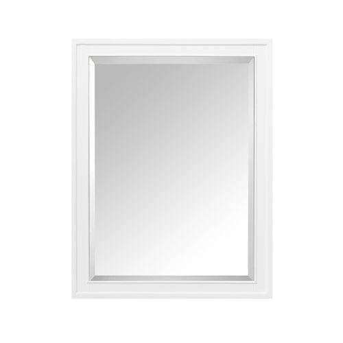 Avanity Madison 24 in. Mirror Cabinet in White finish - White Poplar Cabinet