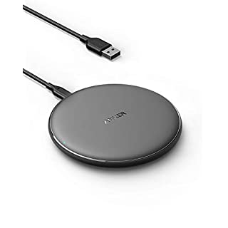 Anker Wireless Charger, PowerWave Pad Qi-Certified 10W Max for iPhone SE 2020, 11, 11 Pro, 11 Pro Max, AirPods, Galaxy S20 S10, Note 10 9 (No AC Adapter, Not Compatible with MagSafe Magnetic Charging)
