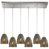 Pendants 6 Light With Satin Nickel Finish Smoke Glass Medium Base 30 inch 360 Watts - World of - 30 Covina