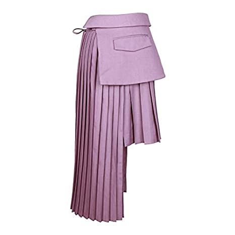 DQHXGSKS Faldas Plisadas de Las Mujeres del Remiendo Irregular de ...