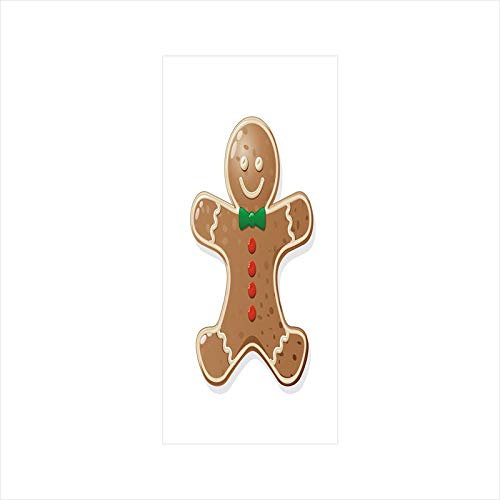 Decorative Window Film,No Glue Frosted Privacy Film,Stained Glass Door Film,Iconic Seasonal Baked Pastry Sugary Treats for Kids Joyous Fun Xmas Decorative,for Home & Office,23.6In. by 47.2In Caramel ()