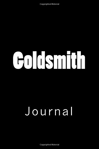 Goldsmith: Journal, 150 lined pages, softcover, 6