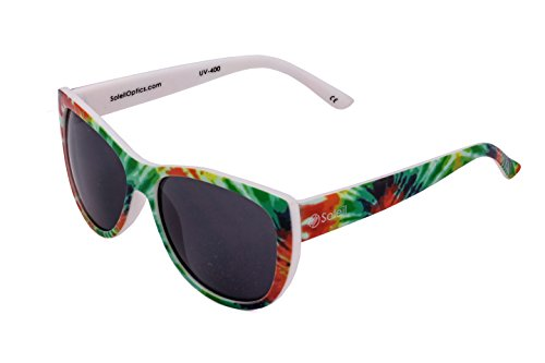 Soleil CANTON Tiedye Sunglasses; Subtle Cateye Profile, Tie dye, UV-400 Grey - Sunglasses Dye Tie