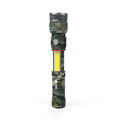 3 Pack Nebo Slyde King 330 Lumen USB rechargeable LED flashlight/Worklight CAMO 6643, rechargeable Li-ion battery with EdisonBright USB charger bundle by EdisonBright (Image #3)