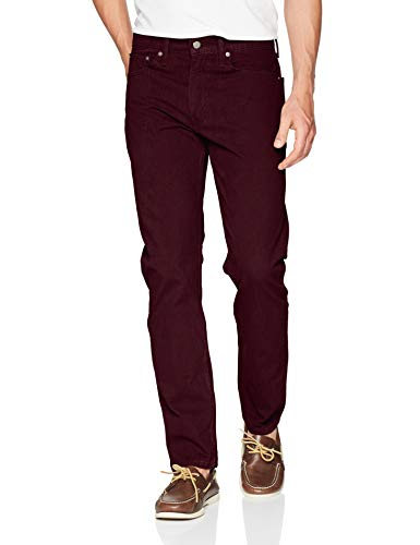 Cords Levis - Levi's Men's 502 Regular Taper Fit Pant, Mulled Wine/Corduroy/Stretch, 36W x 32L
