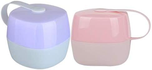 Healifty - 2 cajas para chupete, cartel para chupete, caja para chupete, caja, chupete, chupete, accesorio para cochecito, con cadena para chupete: Amazon.es: Bebé