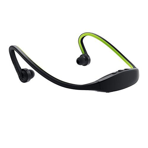 GizmoVine Sport Bluetooth Kopfhörer mit Mikrofon Stereo Wireless Nacken Ohrhörer Lauf Earbuds für iPhone 6 6S 6 Plus 6S Plus 5S 5 5C 4S 4, Samsung Galaxy S6 S6 Edge S5 S4 Mini , Laptops Tablets , grün
