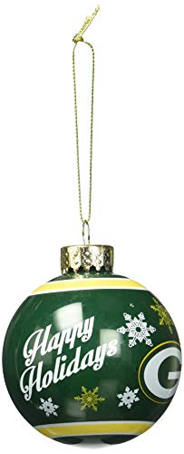 Bay Ornaments Green Packers - Green Bay Packers 2016 Glass Ball Ornament