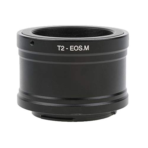MagiDeal T2 T-2 Mount Telephoto Lens Adapter For Canon EOS-M EF-M Mirrorless Camera - Black by Unknown
