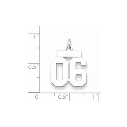925 Sterling Number 06 Pendant Charm Jewelry Set