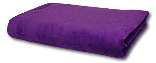 Corner4Shop Large 100% Turkish Cotton Ultra Soft Terry Velour Beach Towel Spa Bath Pool by (1, Purple) by Corner4Shop (Image #1)