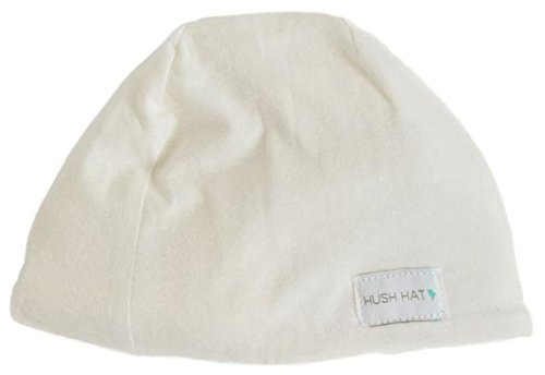 Hush Baby Hat with Softsound Technology and Medical Grade Sound Absorbing Foam, Pearl Natural - Baby Banz White