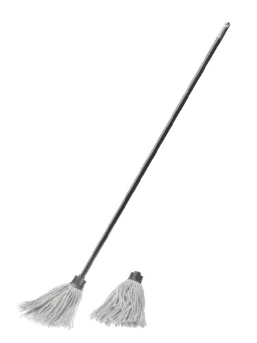 Cotton Mop with Free Refill, Graphite