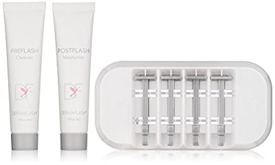 DERMAFLASH – The Essentials 2.0 LUXE Replenishment Kit – For Exfoliating, Hair Removal, Sonic Dermaplaning Device – 4 Weeks of Treatment