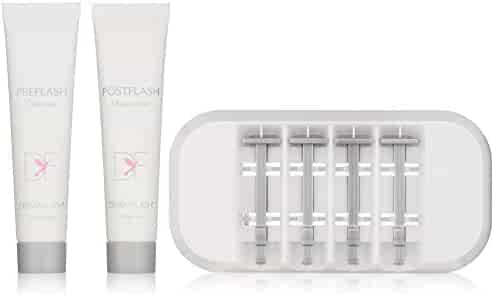 DERMAFLASH – The Essentials Replenishment Kit – Anti-Aging Exfoliation, Hair Removal, Sonic Dermaplaning Device – 4 Weeks of Treatment