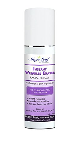 Magic Leaf Instant Wrinkle Eraser Facial Serum 1oz - Anti Wrinkle Skin Gel Cream for Eyes & Face