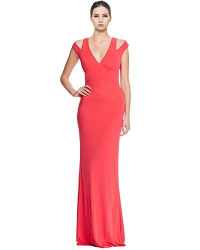 Abs Evening Dresses (A B S BY ALLEN SCHWARTZ ABS by Allen Schwartz Womens Sleeveless Side Slit Evening Dress Red XS)