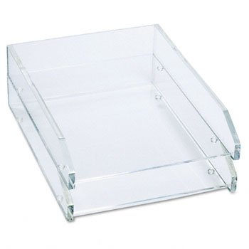 Kantek Clear Acrylic Letter Tray TRAY,2-LTR,DBLE,CR (Pack - Acrylic Stacking Letter Tray