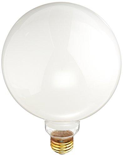 Bulbrite 100G40WH 100W G40 Globe 125V Standard Base Light Bulb, White