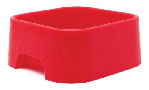 Dogit Style Square Silicone Dog Dish, Red, My Pet Supplies