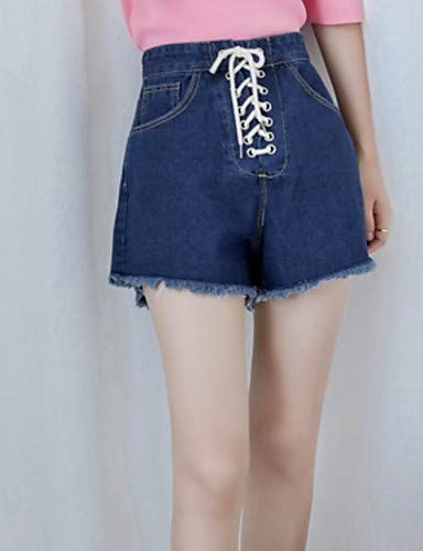 Coulisse Pantaloni Basici Tinta Donna In Uomo Da Yfltz Unita Blue pantaloncini 1xdpYYH