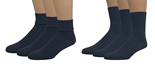 EMEM Apparel Boys Girls Baby Toddler Soft Bamboo Cotton Crew or Turn Cuff Triple Roll Socks 3-Pack Dark Navy 00 by EMEM Apparel (Image #1)