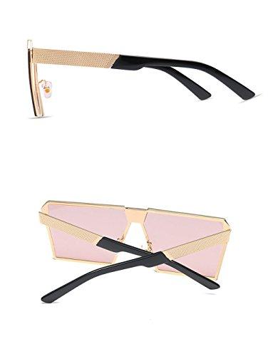 C Gafas De De F Sol Caja Gafas De Retro Europa Playa Tendencia Grande Sol Conducción Metal Espejo Moda Viaje qzwZnxInT